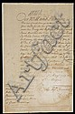 AUTOGRAPHED LETTER DATED MAY 30TH 1709 BY QUEEN ANNE OF GREAT BRITAIN