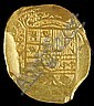 8 ESCUDO GOLD COIN FROM THE 1715 SPANISH FLEET