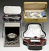 CASED STERLING AND COIN SILVER LOT.