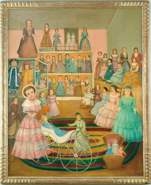 THOMAS ATTARDI (American, 1900-) DOLLS ON PARADE
