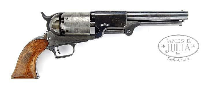 EXTREMELY RARE PROTOTYPE TRANSITION COLT WHITNEYVILLE-HARTFORD DRAGOON PERCUSSION REVOLVER.