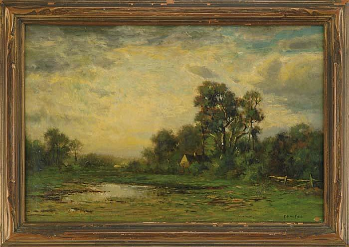 EDWARD LOYAL FIELD (American, 1856-1914) SUMMER LANDSCAPE