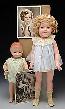 LOT OF TWO AMERICAN COMPOSITION DOLLS.