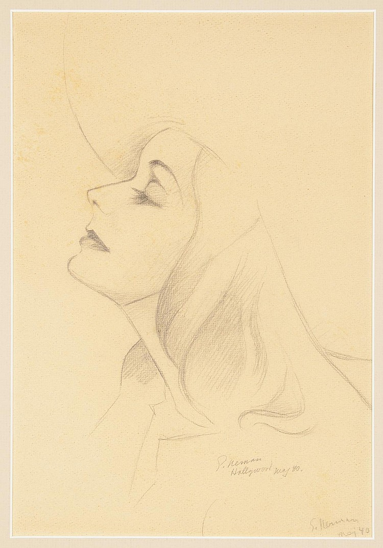 GRETA GARBO EINAR NERMAN SKETCH