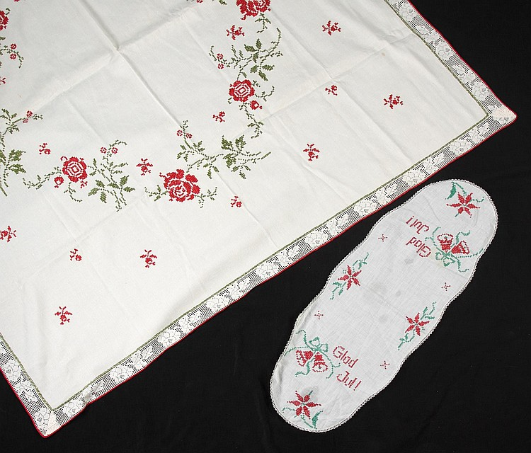 GRETA GARBO LINENS MADE BY HER MOTHER