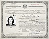 GRETA GARBO CERTIFICATE OF NATURALIZATION