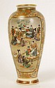 LATE 19 C. KINKOZAN SATSUMA VASE FINELY DECORATED