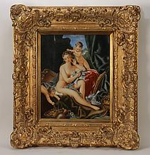 20TH CENT. KPM PAINTED PORCELAIN PLAQUE NUDE