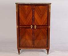 19TH CENT. FRENCH LOUIS XVI CABINET MARBLE TOP