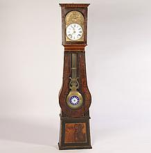 19TH CEN. FRENCH TALL CASE CLOCK ENAMELED FACE
