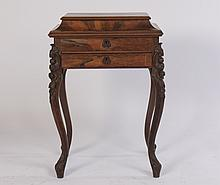 AMER. VICT. ROSEWOOD SEWING STAND 1 DRAWER 1870