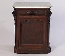 AMERICAN VICTORIAN SIDE CABINET 1 DRAWER 1880