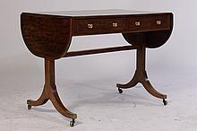 19TH CENT. GEO III SOFA TABLE 2 DRAWERS