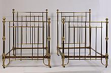 PR LABELED WINFIELD BRASS BEDS CHICAGO 1900