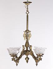 VICTORIAN STYLE BRONZE CHANDELIER 4 ARMS