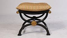 REGENCY STYLE X-FORM BENCH LEATHER SEAT