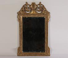 LABELED NANCY CORZINE GILTWOOD CARVED MIRROR