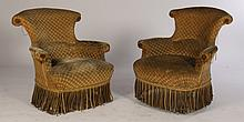 PR FRENCH NAPOLEON III CLUB CHAIRS 1890