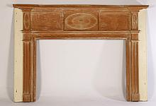FEDERAL CARVED PINE FIREPLACE MANTLE 1800