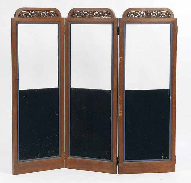 RARE CARVED 6 PANEL SCREEN