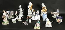 18 PC LOT MID 20TH C. PORCELAIN HEREND NIPPON