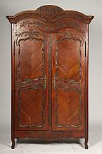 CARVED FRENCH PROVINCIAL STYLE ARMOIRE