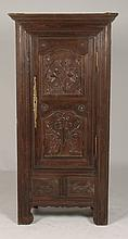 FRENCH 19TH C. OAK CUPBOARD 1 DOOR