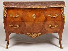 EARLY 20TH C. LOUIS XV STYLE MARBLE TOP COMMODE