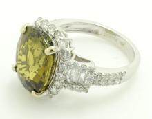 Alexandrite & Diamond Ring (GIA CERT)