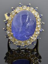 Tanzanite & Diamond Ring Appraised Value: $7,710