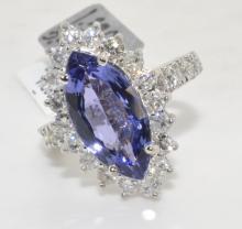 Tanzanite & Diamond Ring Appraised Value: $13,435
