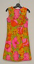 1960'S BONWIT TELLER PSYCHEDELIC SILK MINI DRESS