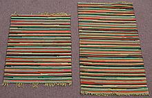 (2) EARLY 20TH CENT. RAG RUGS