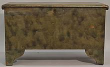 19TH CENT. N.E. PAINT DECORATED BLANKET BOX