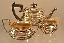 3 PC. 19TH CENT. ENGLISH SILVER TEA SET