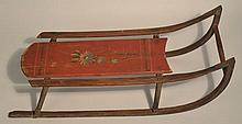 19TH CENT. VICTORIAN PAINTED CHILD'S SLED