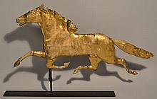 EARLY 20TH CENT. GILT ETHAN ALLEN RUNNING HORSE WEATHERVANE