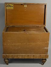 19TH CENT. GRAIN PAINTED EDDY REFRIGERATOR ICE CHEST