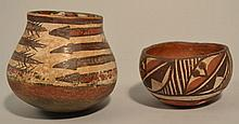 (2) EARLY 20TH CENT. SOUTH WEST PUEBLO POTTERY BOWLS