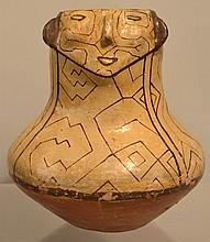 MID 20TH CENT. SHIPIBO FIGURAL POTTERY EFFIGY VESSEL FROM NORTHERN PERU