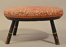 19TH CENT. N.E. PAINTED WINDSOR CRICKET FOOT STOOL