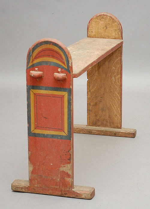 19TH CENT. NEW ENGLAND PAINTED BUGGY BENCH