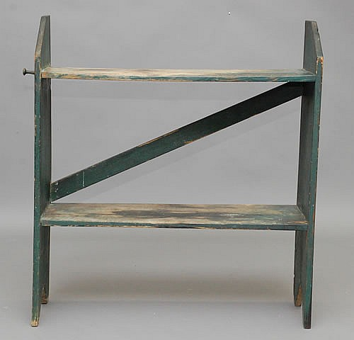 19TH CENT. NEW ENGLAND PAINTED 2-TIER BUCKET BENCH