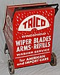 TRICO WINDSHIELD WIPER PAINTED METAL RETAIL FLOOR STANDING ADVERTISIND DISPLAY CART