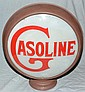 CONVEX DOUBLE SIDED REVERSE PAINTED GLASS GASOLINE PUMP GLOBE