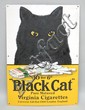 BLACK CAT VIRGINIA CIGARETTES ENAMELED ADVERTISING SIGN