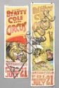 (2) CLYDE BEATTY COLE BROS. CIRCUS POSTERS