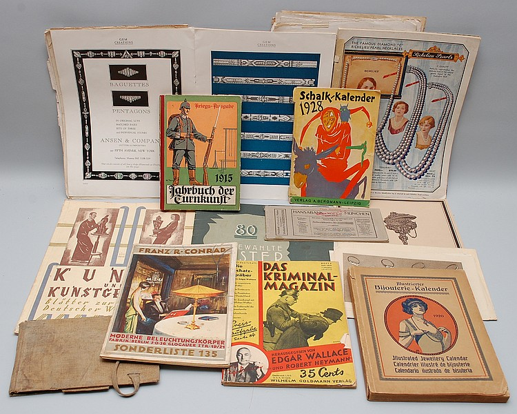 COLLECTION MISC. EARLY 20TH CENT. GERMAN MAGAZINES, MERCHANDISE CATALOGS & PAPER EPHEMERA