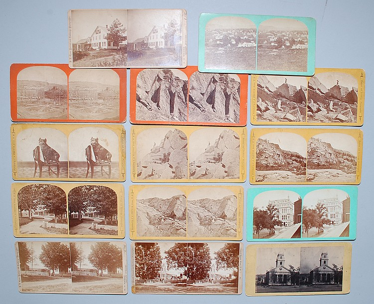 (14) MISC. STEREOVIEW CARDS BY KEENE NH PHOTOGRAPHERS J.A. FRENCH, FRENCH & SAWYER & H.L. CHASE