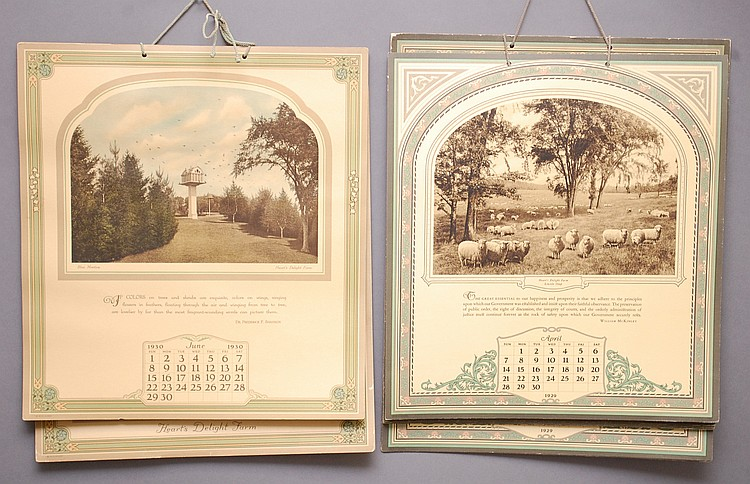 (2) MISC. 20TH CENT. HEARTS DELIGHT FARM CALENDAR BOOKS